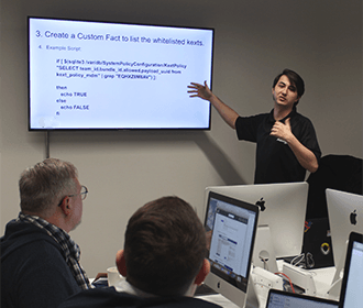 Microsoft Azure training shown in the Influential Software London classroom